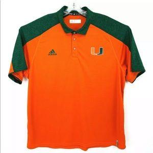 University of Miami Adidas Polo